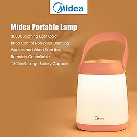Xiaomi  youpin  Midea Portable Lamp Bedside Table Lamp w/3000K Warm Light/1800mAh Rechargeable Battery Stepless Dimmable Night Light