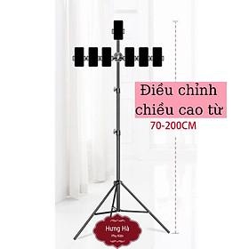 Cây live giá đỡ điện thoại livestream,quay tiktok 3 chân tripod cao từ 70cm đến 2m cho nhiều kẹp điện thoại thông minh