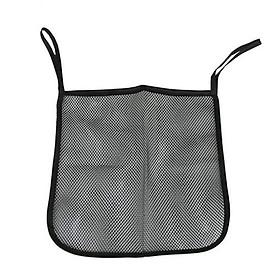 Net Pocket Stroller Bag Universal with Lanyard Polyester Baby Carriage Organizer