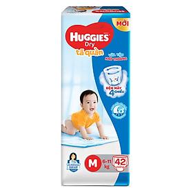 Tã Quần Huggies Dry Pants Jumbo M42 (6-11Kg)  - Gói 42 Miếng