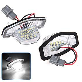 2Pcs/Set 18 LED Lamp Number License Plate Light for Honda Fit jazz Odyssey CRV FRV HR-V