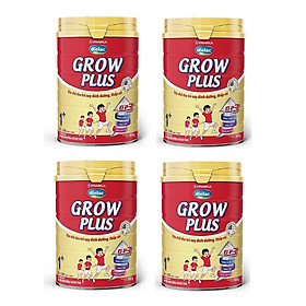 BỘ 4 LON SỮA BỘT VINAMILK DIELAC GROW PLUS 1+ 900G (CHO TRẺ TỪ 1 - 2 TUỔI)