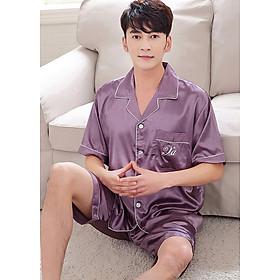 Đồ bộ mặc nhà Nam ngắn chất liệu mềm mại thoải mái sang chảnh-205