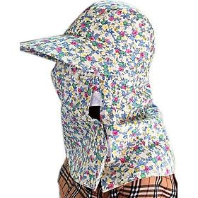 Mũ khẩu trang chống nắng hai lớp chống nắng họa tiết - Màu Ngẫu Nhiên