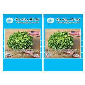 Bộ 2 Gói Hạt Giống Rau Xà Lách Oakleaf - Chịu Nhiệt SaladBowl (Lactuca sativa) 2000h
