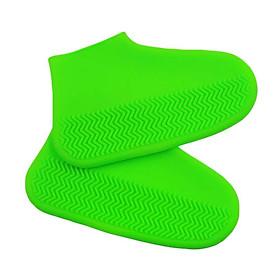 Bộ 2 bọc giày đi mưa silicon chống nước trong suốt co giãn hiệu Coolnice áo mưa cho giày