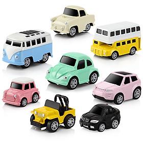 Bộ 8 Ô Tô Mô Hình Đồ Chơi DODOELEPHANT Brinquedo Toys Cho Bé Trai
