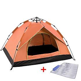 [TẶNG KÈM TẤM TRẢI LỀU CÁCH NHIỆT] lều cắm trại 3-4 người tự bung loại tốt kích thước 210x200 x130cm, lều cắm trại 1 lớp 2 cửa mini chống mưa dùng để đi du lịch đi phượt đi câu cá dã ngoại