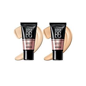 Kem Nền Maybelline Super BB Ultra Cream Cover SPF50 PA++++ 30ml Trang Điểm Hoàn Hảo PM711-6