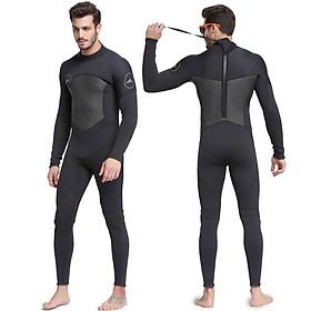 Quần áo lặn biển 3mm NAM - BLACK 1070, bộ đồ lặn thoáng khí, chống thấm nước - POKI