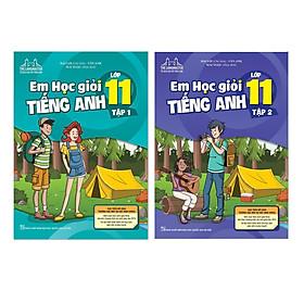 Sách Combo Em học giỏi tiếng anh lớp 11 tập 1+ tập 2 Có Mã cào sau sách thay cho CD