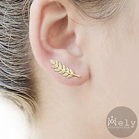 Bông tai nhỏ xinh hình lá nhiều mẫu màu vàng bạc cá tính năng động dành cho nữ - BT4K TASA