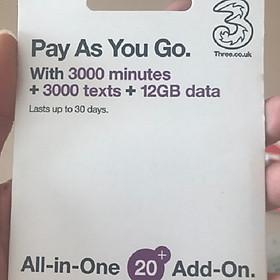 Sim Du Lịch Mỹ - 30 Ngày 12GB - Tốc Độ 4G