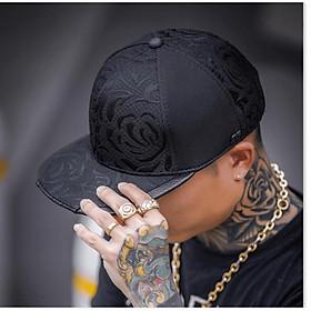 Nón Mũ snapback hiphop nam nữ ĐEN
