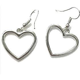 Bông tai trái tim tình yêu cá tính thiết kế xinh xắn đáng yêu bắt mắt