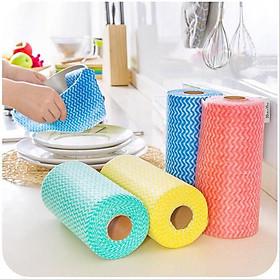 Khăn lau bếp - khăn lau chén đĩa có thể tái sử dụng 50 miếng/cuộn