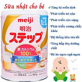 Sữa Nhật Cho Bé Tăng Cân Từ 1 Đến 3 Tuổi Meiji Hỗ Trợ Tăng Hệ Miễn Dịch, Tạo Hệ Tiêu Hóa Tốt Hấp Thụ Dưỡng Chất Hiệu Quả Giúp Bé Phát Triển Cân Đối Nhất Cả Về Chiều Cao, Cân Nặng, Trí Não – 1 Hộp