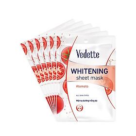 Combo 6 Mặt Nạ Trắng Hồng Tự Nhiên Vedette Whitening Sheet Mask Set (Tomato) 22mlx6