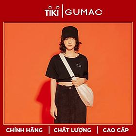 Áo thun nữ GUMAC thiết kế croptop thêu ATA1244 TEEN