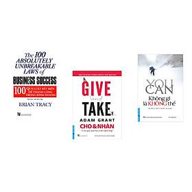 Combo 3 cuốn sách: 100 Qui Luật Bất Biến Để Thành Công Trong Kinh Doanh + Tư Duy Ngược Dịch Chuyển Thế Giới+ You Can - Không Gì Là Không Thể