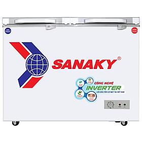 Tủ Đông Kính Cường Lực Inverter Sanaky VH-2899A4KD (235L) - Xanh Ngọc - Hàng Chính Hãng - Chỉ Giao tại HCM