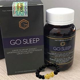 Go Sleep - Hỗ Trợ Điều Trị Mất Ngủ Từ Thảo Dược - Tặng kèm vòng tay tỳ hưu