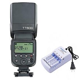 Đèn Flash Godox TT600 Tặng Kèm Bộ Pin Sạc - Hàng Nhập Khẩu