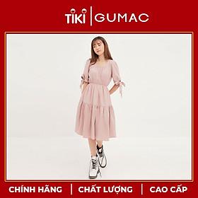 Đầm cổ nhún eo chun GUMAC DA1269