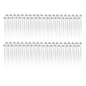 80Pcs LED Lights Hair Barrettes Hairpin Hair Braid Rave Party Supplies