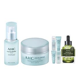 Bộ Tinh Chất Dưỡng Ẩm AHC Aquarulonic Cream 50ml và Kem Dưỡng Ẩm AHC Aquarulonic Serum 30ml - Tặng Bộ Dưỡng Ẩm AHC Aquarulonic ( 5 Món)
