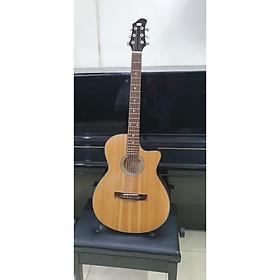 Đàn guitar Acoustic MKAC96, thùng eo, màu vân gỗ, Việt Nam, bao da 2 lớp, bộ dây