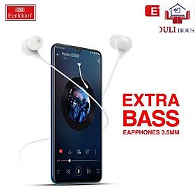 Tai nghe có dây có cổng kết nối 3.5mm, phù hợp với Samsung, Xiaomi, Huawei, Vivo, oppo hoặc loa, máy tính và các thiết bị khác, hiệu Earldom, cáp tai nghe 1.2M, điều chỉnh âm lượng - Hàng Chính Hãng