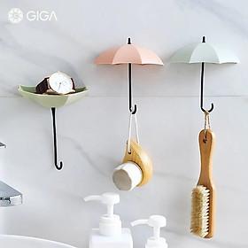 GIGA Essential phong cách Bắc Âu Ins không đục lỗ liền mạch dán mạnh mẽ/móc treo tường không có móc khóa móc/cửa phòng tắm phòng ngủ nhiều màu hoạt hình móc nữ/Móc hình ô