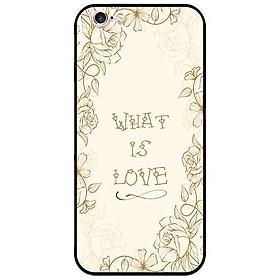 Ốp lưng in cho Iphone 6/6s Mẫu What Is Love