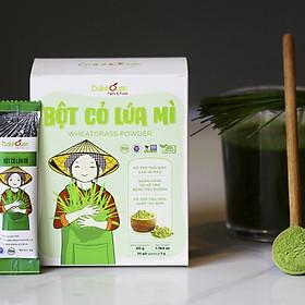 Bột cỏ lúa mì hữu cơ sấy lạnh DalaHouse - hộp 20 gói 3gr - 100% nguyên chất  (Wheatgrass powder)