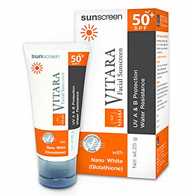 Kem Chống Nắng, Làm Trắng Da Vitara Sunscreen Spf 50+, Pa++ - BER13 (25g)