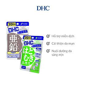 Combo Viên uống DHC Cải Thiện - Làm Đều Màu Da (Kẽm & Adlay)