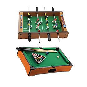 Mini Pool Table Set Billiard Ball Tabletop Desktop Table Top Football Game