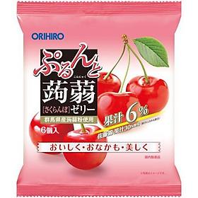Combo 6 gói Thạch trái cây Orihiro vị Đào 120gr