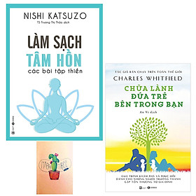 Combo Chữa Lành Đứa Trẻ Bên Trong Bạn và Làm Sạch Tâm Hồn - Các Bài Tập Thiền ( Tặng  Kèm Sổ Tay )