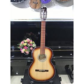 Đàn guitar Classic MKC951, thùng tròn, màu nâu rìa cánh gián, Việt Nam, kèm bao da 2 lớp, bộ dây(ảnh thật)