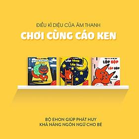 Combo 3 cuốn truyện tranh Ehon Nhật Bản - Làm Quen Với Âm Thanh Cùng Cáo Ken (Cáo Ken và cảnh vật - Lấp lánh lấp lánh; Cáo Ken và động vật - Rón rén rón rén; Cáo Ken và đồ vật - Lộp bộp lộp bộp) - Dành cho trẻ từ 0 - 6 tuổi