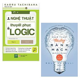 Combo Tuyệt Chiêu Tư Duy Và Thuyết Phục Đỉnh Cao: Nghệ Thuật Thuyết Phục Logic + Nghệ Thuật Tư Duy Rành Mạch (Bộ 2 Cuốn Sách Kỹ Năng Bán Chạy / Tặng Kèm Bookmark Happy Life)