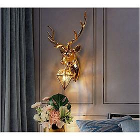 Đèn treo tường trang trí hình đầu hươu vàng TT76