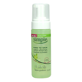 Sữa Rửa Mặt Tạo Bọt Simple Kind To Skin Vitamin Foaming Cleanser 150ml