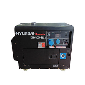Máy Phát Điện Hyundai Chạy Dầu 3 pha 7.5KVA ( Vỏ chống ồn + Đề nổ)