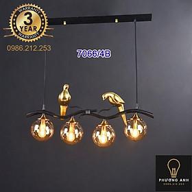 Đèn thả bàn ăn bóng tròn pha lê trang trí phòng ăn phòng bếp, bàn bar sang trọng hiện đại  MÃ 7066