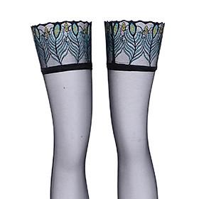 Men's Sissy Sexy Black Mesh Socks Pantyhose Hosiery Elastic Stockings