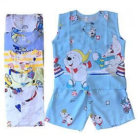 Combo 2 bộ quần áo bé trai BA LỖ vải Tole, lanh mềm, mịn mát mùa hè size từ 5-30kg