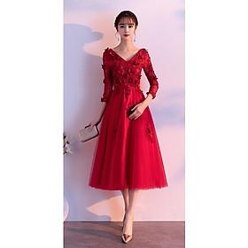 Đầm Dạ Hội Hoa Hồng Đỏ DH50